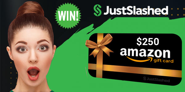 Join the JustSlashed #WhatsApp Group and be entered to win a $250 Amazon gift card. #AmazonGiveaway