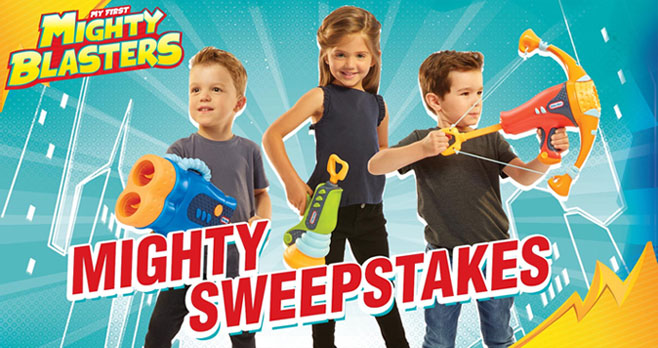 Enter for your chance to win Little Tikes Might Blasters toys for your little one. Five winners will receive a Little Tikes Mighty Blasters prize pack