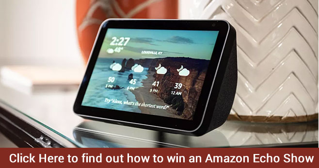Enter for your chance to win an #Amazon Echo Show