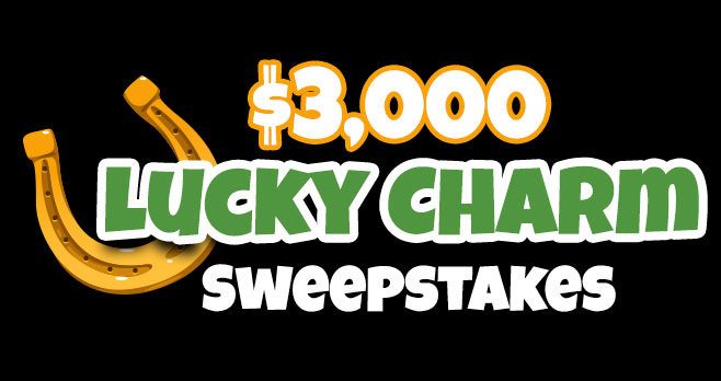 Try your luck at the Lucky Charm $3,000 cash prize! Today could be your lucky day! Just in time for St. Paddy's, Lucky Charm is giving one winner $3,000 to spend however they choose!