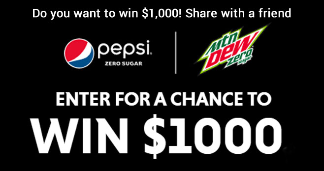 101 CASH PRIZES! Play the #Pepsi Drink Up Cash In Instant Win Game for your chance to win a $1,000 gift card or one of 100 $50 gift cards