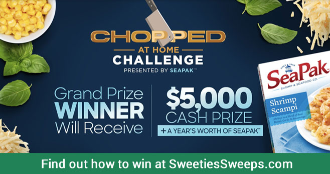 Are you ready to compete like a Chopped champion and win $5,000? Create a Chopped-inspired dish, and share your creation for a chance to win! In addition to the grand prize, two runners-up will also receive a year's worth of SeaPak