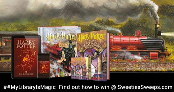 Help your library win copies of the Harry Potter series to share the magic! Share a post and say what makes your library magic, tag them, and use #MyLibraryIsMagic and #Sweepstakes to enter for a chance to win!