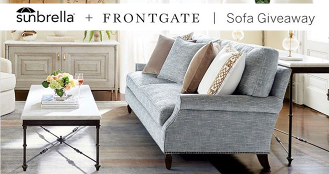 Enter for your chance to win @Frontgate sofa using #Sunbrella fabric to bring everyday elegance and performance into a space. These functional pieces are designed with #Sunbrella fabrics making them durable and easy to clean. Bring a stylish Frontgate sofa into your living space.
