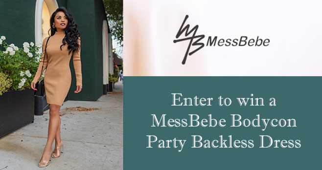 Enter for your chance to win a MessBebe Bodycon Party Backless Dress
