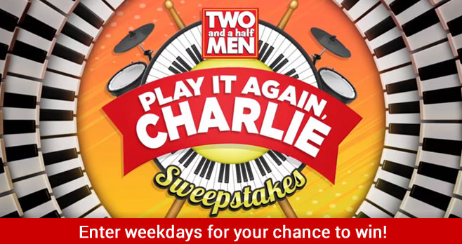 Enter the Two and a Half Men Play it Again Charlie Sweepstakes weekdays for your chance to win cash and be entered to win a grand piano and piano lessons so you can play like Charlie. In support of music education, ten Roland Go: Keys (Keyboard) will be donated to local schools selected by Sponsor.