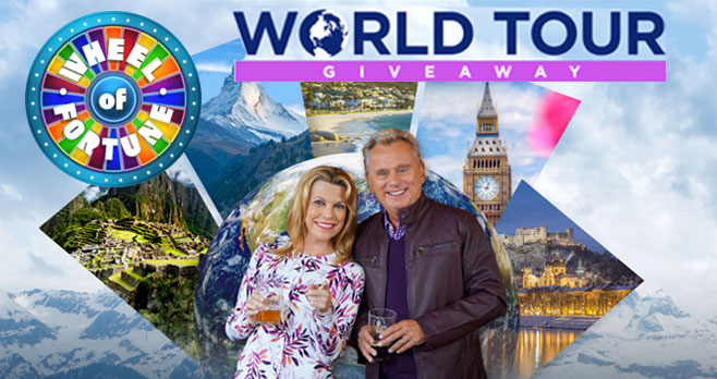 Tune into Wheel of Fortune #WOF February 10-14 and you could win one of five amazing tours toPortugal, London, Peru, South Africa or Switzerland.Imagine yourself exploring lively cities, taking in picturesque landscapes and feasting on local cuisine!