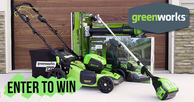 Enter daily for a chance to win 7 Pro 80V lithium-ion battery powered yard tools valued at over $3,000 from Bob Vila. Greenworks sells Lawn mowers, pressure washers, blowers, cordless drills and other quality power tools for home and garden.