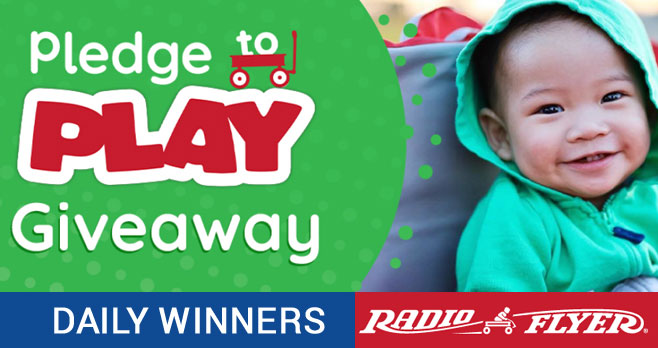 Radio Flyer is giving away one toy daily until April 24th. The prize changes each day; check out the calendar on the website for all the great toys. Every entry is only for that day, so be sure to come back for more chances to win!