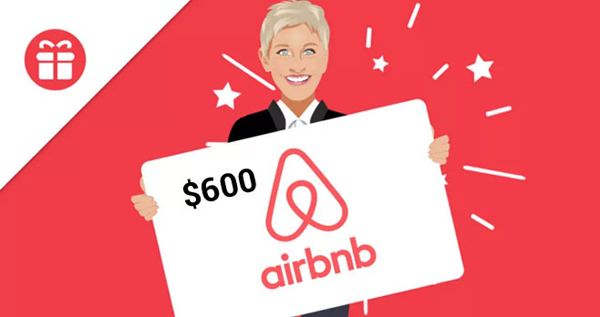 Enter for your chance to win a $600 Airbnb gift card from Ellen. Ellen wants you to ditch the hotel and book your next stay with Airbnb! There's a wide selection of places to stay, verified for quality and design.