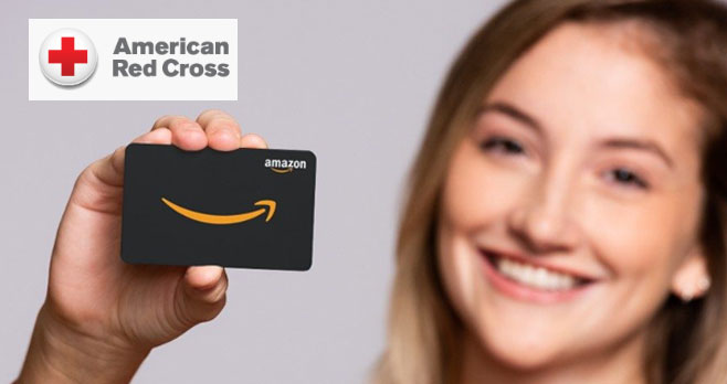 Give blood, platelets or AB Elite plasma to the American Red Cross between April 1-30, 2020, to get a Free $5 Amazon.com Gift Card via email.