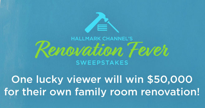 Enter @HallmarkChannel's Renovation Fever Sweepstakes  now for the chance to win $50,000 to renovate your own kitchen plus there will be weekly winners