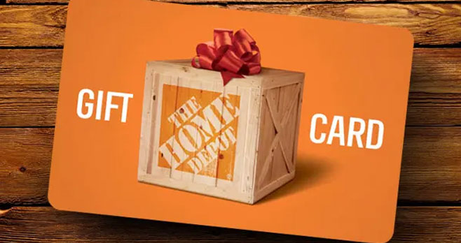 Enter for your chance to win a $100 Home Depot gift card.