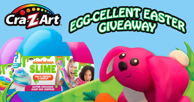 Enter the Cra-Z-Art Egg-cellent Easter Giveaway for your chance to win some of our newest Cra-Z-Art items to brighten up your Easter basket - including our NEW Nickelodeon Slime Giant Egg Surprise!