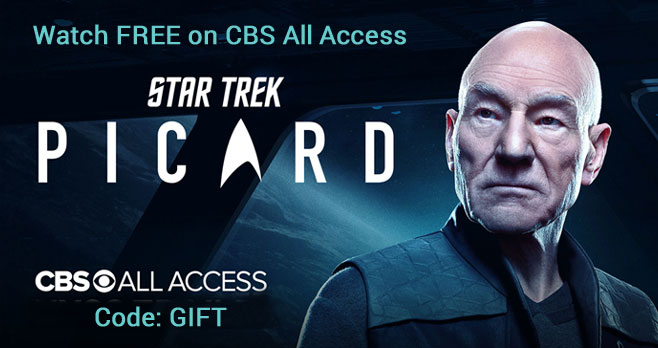 CBS All Access is Free now through April 23, 2020. Watch shows like the popular Picard series, starring actor Patrick Stewart.