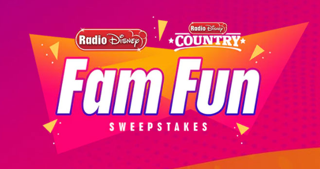 Radio Disney and Radio Disney Country have your fam fun covered! FOUR very lucky winners will win ways for you to enjoy family time!