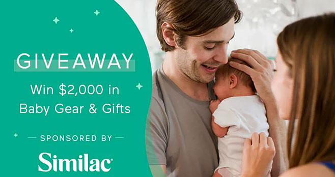 Similac is giving away nearly $2,000 worth of baby gear and gifts. You could take home all fifteen prizes from brands like FridaBaby, Aden +  Anais, Beaba, Babylist, Skop Hop, Lovevery, WubbaNub, BabyBjorn, Google, Herobility and Halo
