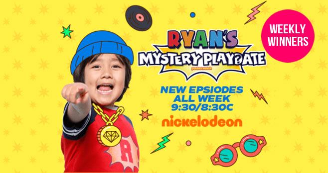 Enter for your chance to win free toys from Ryan when you enter Ryan's Mystery Playdate Season 3 Sweepstakes from Nickelodeon. A new prize will be given away each week through May 2nd.