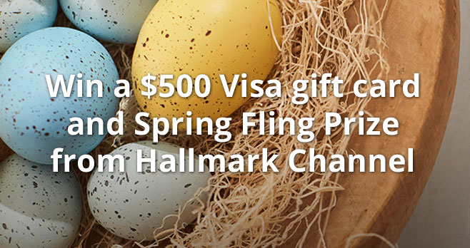 Enter for your chance to win a$500 Visa gift card and a special #SpringFling prize pack from Hallmark Channel.