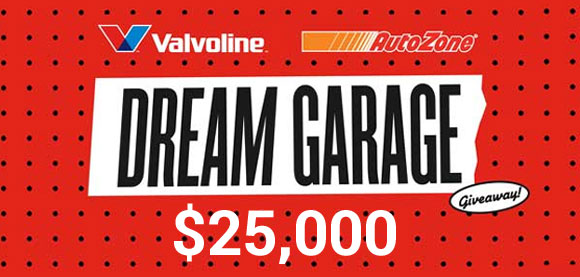 Valvoline and Autozone are giving away $25,000 to one lucky winner. Is it you?Enter the Dream Garage Sweepstakes to for a chance win your ultimate garage!