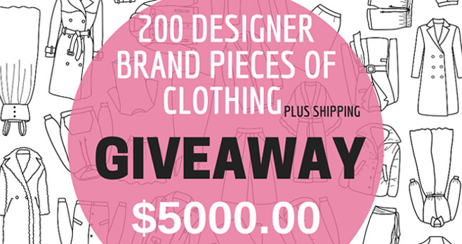 Enter for your chance to win 200 pieces of designer clothing from La Rose Prive valued at $5,000! The grand prize contains pieces of different styles and sizes (from size 0 to 24). Some of the brands included are Tahari, Levi's, Calvin Klein, Le Suit, and many others.