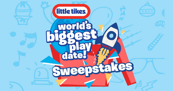 Enter for your chance to win Little Tikes outdoor toys. Sign up to participate in the World's Biggest Playdate at Home Edition and you'll automatically be entered into the World's Biggest Playdate Sweepstakes.