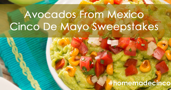 As long as there's Guac, there's Cinco! Enter to win the grand prize of $500 or one of the daily $50 prizesby posting a pic of your guacamole on Instagram and use #homemadecinco and @AvocadosFromMexico in the caption.