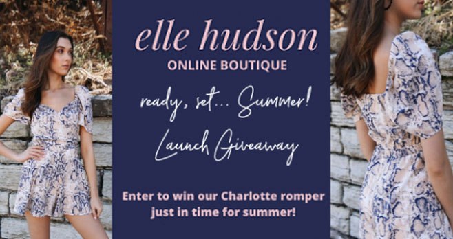 Can't wait to finally be OUTSIDE again? Neither can we! So enter to win a super cute Charlotte romper in snakeskin print from Elle Hudson, just in time for your summer planning! It's your new go-to look for any date night, girls night or beach getaway!
