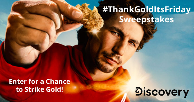 Enter the #ThankGoldItsFriday Sweepstakes for a chance to Strike Gold! Watch #ParkersTrail for your chance to enter to win real gold in a social media treasure hunt. Got gold fever? Clue will be revealed every week through May 5th. Tune in then for your chance to win 1oz of gold!