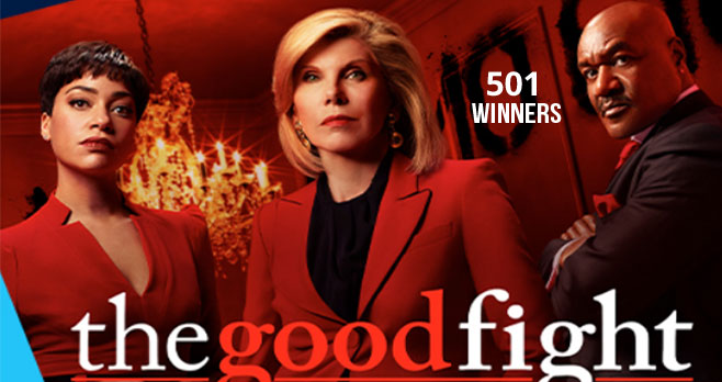 "Enter for a chance to win a Special POPSUGAR Must Have x ""The Good Fight"" Box Plus $5,000 to be a Total Boss and the 500 first prize winners will also receive a POPSUGAR Must Have x The Good Fight Box inspired by the show."