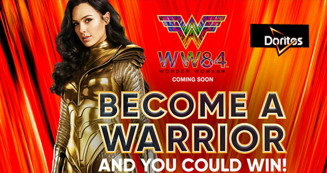 "Play the #Doritos Wonder Woman Instant Win Game everyday for your chance to win great prizes including a trip for two to Los Angeles for a ""Wonder Woman 1984 stunt experience"". Grab your Free Woman Wonder games codes to win."