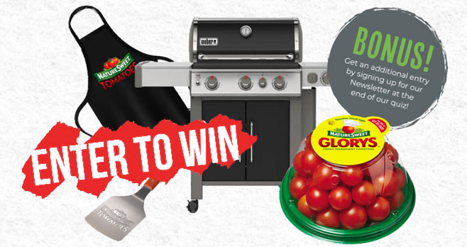 Enter for your chance to win a Weber Genesis Series E335 grill, Free NatureSweet Tomatoes and so much more when you enter the Naturesweet What's Your Spirit Salad Sweepstakes.