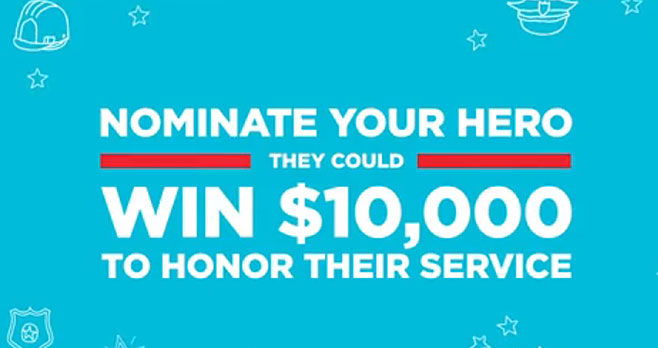 One lucky hero will win $10,000 to honor their service and the nominator will get $500. Nominate your hero today! What does it take to be a hero? Sparkling Ice is on the lookout for everyday heroes, because we know that not all heroes wear capes. Whether it's a nurse, veteran, mail person or your 80-year-old neighbor, there are many unsung heroes around us.