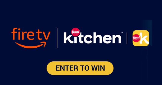 Enter for your chance to win an Amazon Fire TV Stick when you enter Food Network Kitchen's We Cook Together Sweepstakes. Share a photo of a recipe you cooked using the free Food Network Kitchen app to enter.