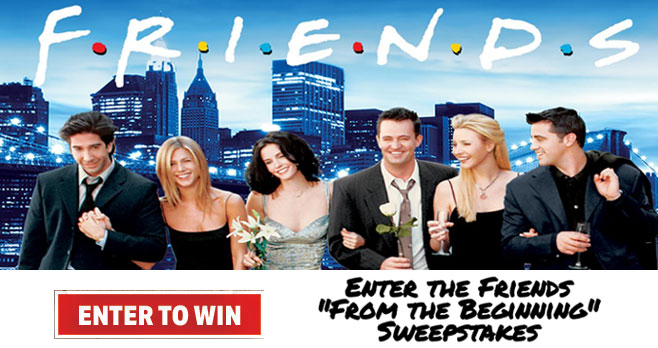 Enter for your chance to win a $500 American Express gift card and a Friends complete series digital download when you enter the TBS Friends From the Beginning Sweepstakes. There will be 25 winners in all.