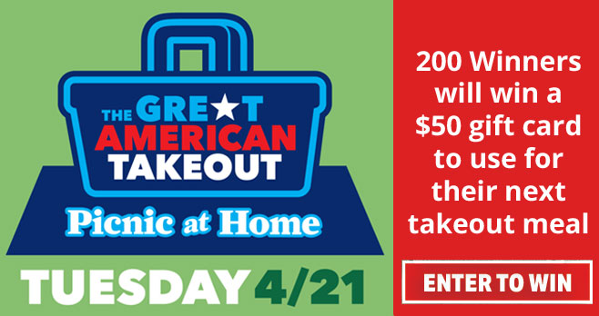 Great American Takeout Picnic at Home Sweepstakes