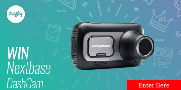 Enter for a chance to win a Nextbase Dash Cam valued at $180.Sign up/log in at triffiq.com, watch a video and answer a relevant question to be in with a chance to win.