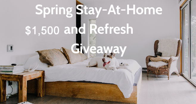 Enter to win a $1,500 refresh for your stay-at-home routine! The grand prize includes percale sheets, wireless chargers, a stock pot, a full suite of Porter products, a coffee bench and more.