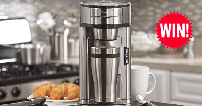 Enter for your chance to win aHamilton Beach The Scoop Single-Serve Coffee Maker