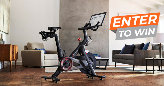 Enter for your chance to win a Peloton Indoor exercise bike