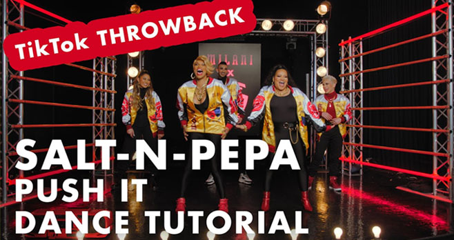 Enter for your chance to win $500 Worth of Milani Cosmetics product; One Milani x Salt-N-Pepa Collection Set; One Milani and Salt-N-Pepa Jacket when you participate in the #MilaniPushIt Tiktok Challenge