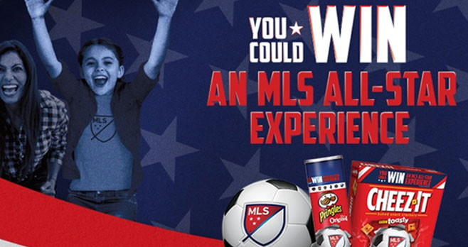 Enter for your chance to win a trip to the MLS All-Star Experience or one of 150 JLab or MLB Electronic Gift Cards when you play the Kellogg's Cheez-It & Pringles MLS Instant Win Game Game