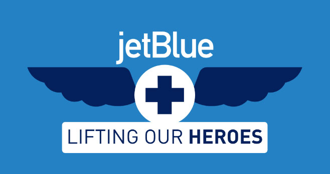 Nominate your #JetBlueHealthcareHero and they could receive roundtrip flights for 2 to anywhere we fly! To thank healthcare heroes across the country, Jetblue is giving away 100,000 pairs of roundtrip flights - so they can take a vacation when the time is right.