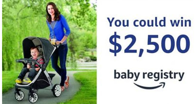Enter for your chance to win a $2,500 Amazon.com Gift Card when you enter the Amazon Baby Registry & Chicco Sweepstakes.