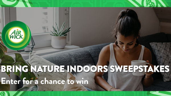 Enter for your chance to win $15,000 for a Home Renovation Project plus one of 1,500 other prizes when you enter the Air Wick Bring Nature Indoors Sweepstakes