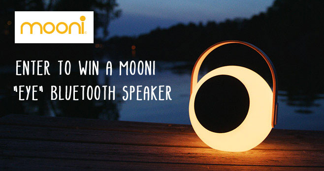 Enter for your chance to win a Mooni bluetooth, splashproof LED speaker with multi lights. Lightweight and portable, this speaker is perfect for the beach, lake, poolside, camping, or just relaxing on the deck.