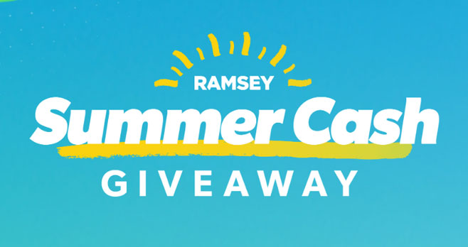 Enter the Ramsey Summer Giveaway daily for your chance to win $500 to $3,000 in cash! Ready for a real vacation or maybe some extra cash for summer fun? You're in luck because Dave Ramsey is giving some cool cash to kick your summer fun in high gear