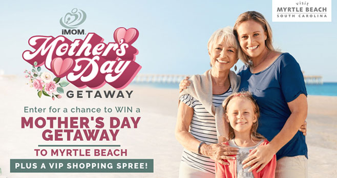 Enter for your chance to win a Family Beach Vacation trip to Myrtle Beach, South Carolina that also includes a with a shopping spree for mom!