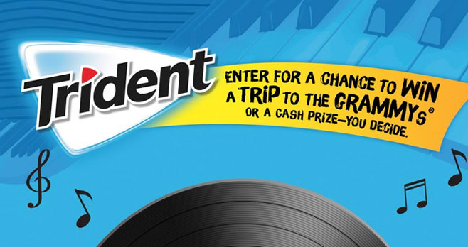 Enter for a chance to win a trip to the 63rd GRAMMY Awards® in 2021! Get your chance to win by choosing your @tridentgum #ChewTunes#Sweepstakes