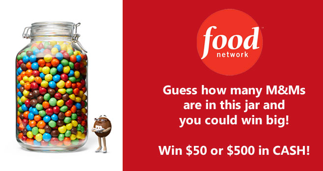 Guess how many M&M'S Fudge Brownie candies are in this jar and you could win $50 to $500 in cash!
